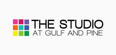 the studio on gulf and pine logo